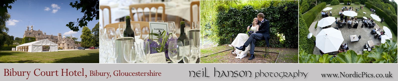 Neil Hanson photography provides contemporary Wedding Photography for The Bibury Court Hotel, Gloucestershire