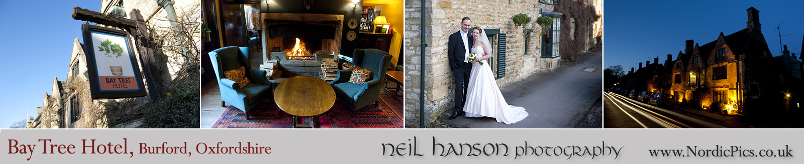 Neil Hanson Photography provides contemporary Wedding Photography for The Bay Tree Hotel, Burford