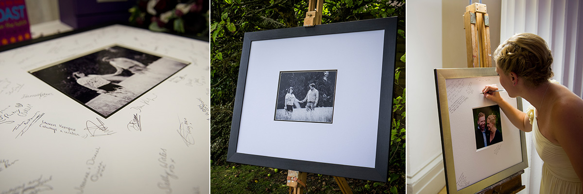 Guest signature frames for weddings by neil hanson photography