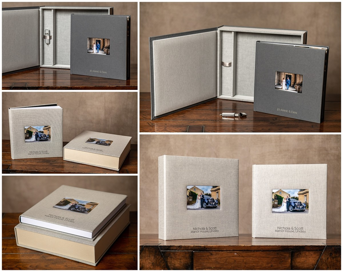 wedding photo album square album box acrylic window