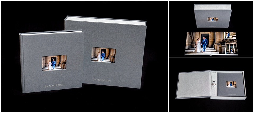 Exclusive wedding album box set with USB