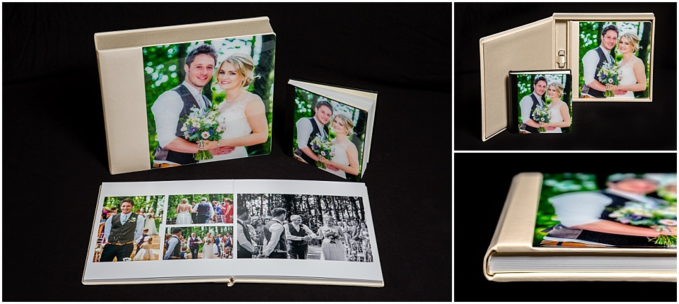 Acrylic Prestige wedding album boxset with USB